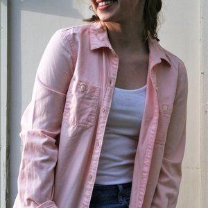 Light pink button down shirt long sleeve